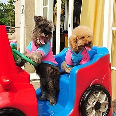 Câine Hanorace cu Glugă Îmbrăcăminte Câini Albastru Roz Material amestecat Costume Pentru Iarnă Cosplay