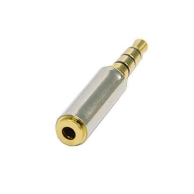 cep telefonu 0.5m 1.5ft için 2.5mm dişi stereo ses kulaklık jakı adaptörü dönüştürücü altın 3.5mm erkek