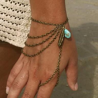 Kadın Tılsım Bileklikler Yüzük Bileklikler Reçine alaşım Eşsiz Tasarım Moda minimalist tarzı Mücevher Altın Gümüş Bronz Mücevher 1pc