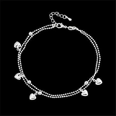Pentru femei Brățară Gleznă / Brățări Aliaj Iubire Brățară Gleznă Corp lanț / burtă lanț Inimă Bijuterii Pentru Zilnic Casual
