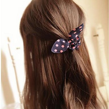 ilmek tavşan kulakları basit, pratik, yüksek elastik saç bantları (renk rastgele)