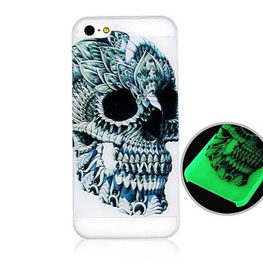 Pentru Carcasă iPhone 5 Carcase Huse Stralucire in intuneric Carcasă Spate Maska Culoare solida Greu PC pentru iPhone SE/5s iPhone 5
