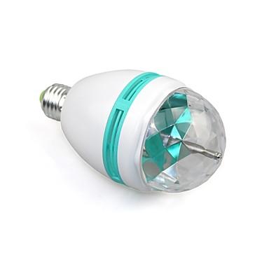 1 adet e27 tam renkli 3 w rgb led projektör kristal sahne ışık sihirli top dj dace parti disko etkisi ampul lamba (110-240 v)