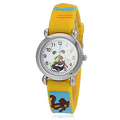 Kadın's Gündelik Saatler / Moda Saat Japonca Gündelik Saatler Silikon Bant Karikatür Sarı / İki yıl