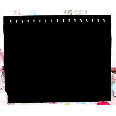 Klasik yedi kanca kolye takı siyah kağıt pazen takı görüntüler (1 adet) standı
