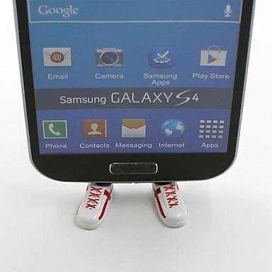 Bandeira nacional Inglaterra equipa de futebol Sapatos em forma Bracket Suporte plug Dustproof para Samsung S3 S4 S5