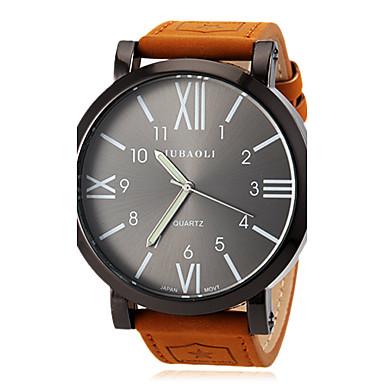 זול שעוני גברים-JUBAOLI בגדי ריקוד גברים שעון יד קווארץ עור חום שעונים יום יומיים אנלוגי קסם קלסי אריסטו - כתום אדום כחול שנה אחת חיי סוללה / SSUO LR626