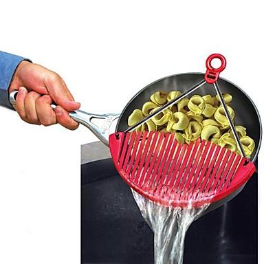 Mutfak aletleri Paslanmaz Çelik + Plastik Katlanabilir / Çok Fonksiyonlu / Drenaj Süzgeç Meyve / Sebze için / Noodles için 1pc