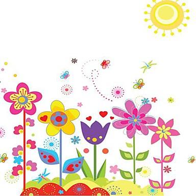 Çiçekler Duvar Etiketler Uçak Duvar Çıkartmaları Dekoratif Duvar Çıkartmaları, Vinil Ev dekorasyonu Duvar Çıkartması Duvar