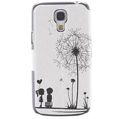pencere ile karahindiba desen ve sevgili pu tam vücut durumda ve samsung galaxy s4 Mini i9190 için standı