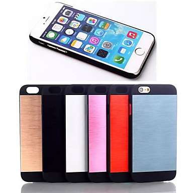 de metal pu coperta din piele pentru iPhone 6 (culori asortate)