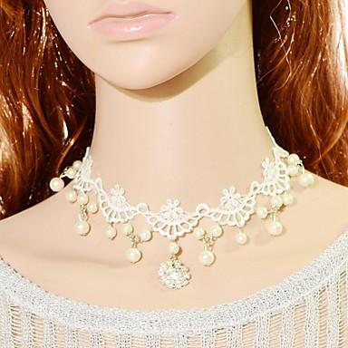 Dame de Mireasă Cu Mărgele Modă Coliere Choker Guler Coliere Vintage Coliere Perle Dantelă Coliere Choker Guler Coliere Vintage Coliere .