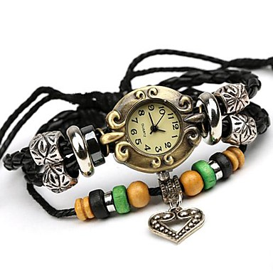 Damen Modeuhr Band Armbanduhr Schwarz