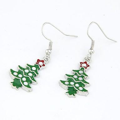 여성용 드랍 귀걸이 귀걸이 크리스마스 트리 숙녀 패션 보석류 제품 크리스마스