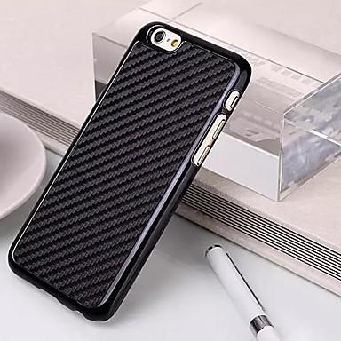 Super fibra de carbono fino de plástico de volta caso protetor para iPhone 6 Plus (cores sortidas)