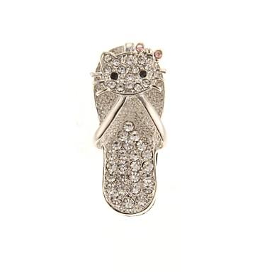 zp model papuci de argint 64GB bling diamant stil de metal unitate flash USB