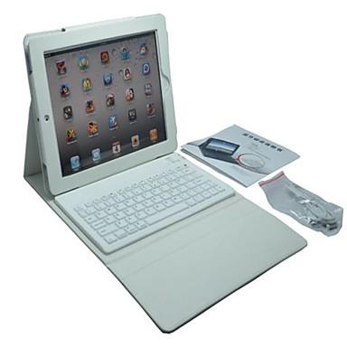 ipad 4/3/2 (çeşitli renklerde) için kablosuz bluetooth klavye silikon deri çanta