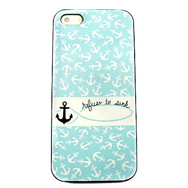 Anchor Pattern Hard Case for iPhone 5/5S