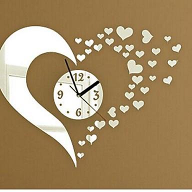 ceasuri de perete autocolante decalcomanii de perete, moda 3d inima oglinda acrilice autocolante de perete