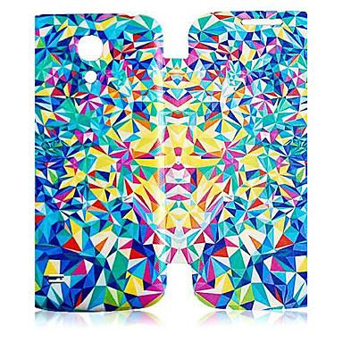 Pentru Samsung Galaxy Carcasă Carcase Huse Întoarce Model Corp Plin Maska Model Geometric PU piele pentru Samsung S4 Mini