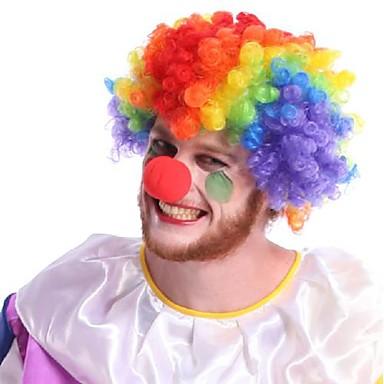 Burleske/Clown Cosplay Pruiken Unisex Festival/Feestdagen Halloweenkostuums Halloween Kleurenblok