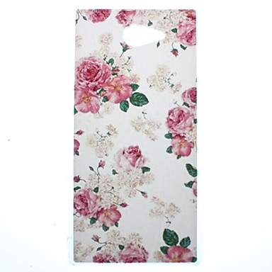 Beautiful Rose Flower Transparent Pattern PC Hard Case for Sony Xperia M2 S50h