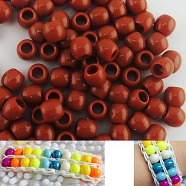 ca. 100pcs 8x9mm Kaffee Perlmuttperlen Pony Regenbogen Farbe Webstuhl Armband diy Zubehör
