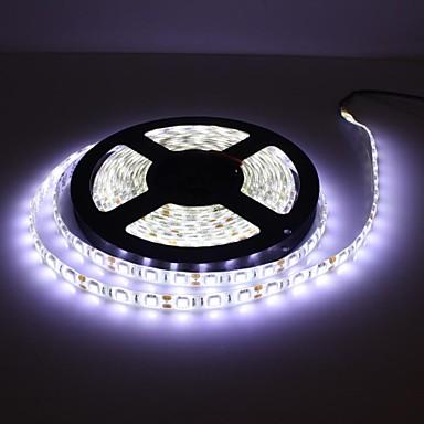 5m Lichtsets 300 LEDs 5050 SMD Weiß Wasserfest / Fernbedienungskontrolle / Abblendbar 100-240 V / 12 V / IP65