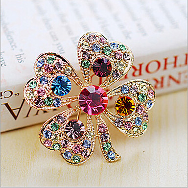 Women's Brooches - Crystal, Cubic Zirconia Party, Fashion Brooch White / Rainbow For Wedding / Party / Special Occasion