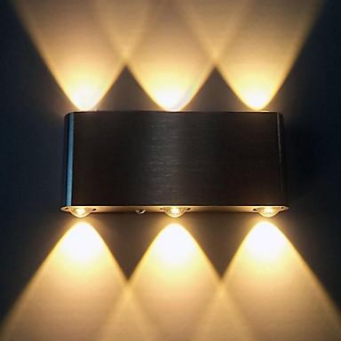 Duvar ışığı Ortam Işığı 6W 90-240V Birleştirilmiş LED Modern / Çağdaş Fırçalanmış