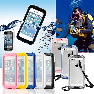 Case For iPhone 5 Apple iPhone 5 Case Waterproof Full Body Cases Solid Color Hard PC for iPhone SE / 5s