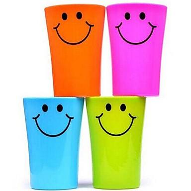 πολλαπλών λειτουργιών πρόσωπο χαμόγελο πλαστικό κύπελλο οδοντόβουρτσα 360ml (τυχαία χρώμα)