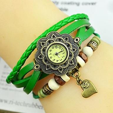 Pentru femei Ceas La Modă Ceas de Mână Ceas Brățară Quartz Piele Bandă Heart Shape Boem Negru Alb Albastru Orange Maro Verde