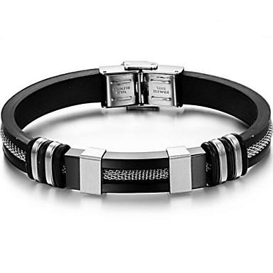 Altele ID brățară - Personalizat Design Unic Modă Argintiu / negru Brățări Pentru Cadouri de Crăciun Zilnic Casual