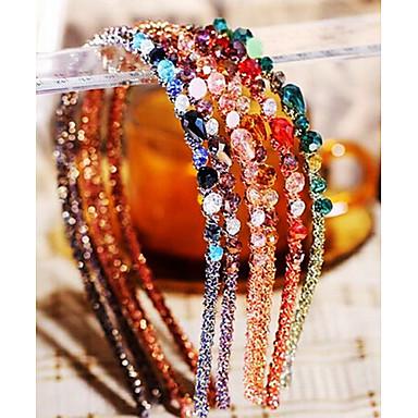 Kadın's Zarif Kristal alaşım Saç Bandı - Çiçekli