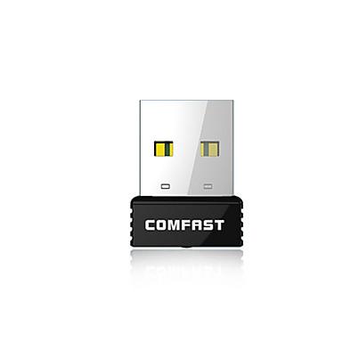 comfast® 150Mbps cf-wu712p super-mini USB placă de rețea wireless cu buton WPS