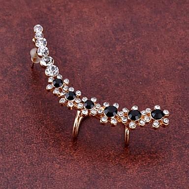 Pentru femei Floare Cristal Diamante Artificiale Cătușe pentru urechi - Lux Modă cercei Pentru Petrecere Zilnic Casual