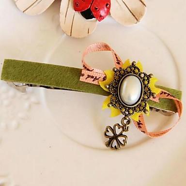 ρετρό πολύχρωμα τριφύλλι κορδέλα φουρκέτες για τις γυναίκες (1pcs)