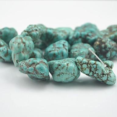 DIY bijuterii 5PC/BAG buc Seturi de margele Albastru Piatră Semi-Prețioasă Şirag de mărgele 2-2.8 cm DIY Brățări Coliere