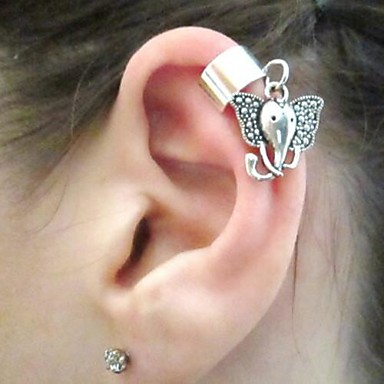 Dames Clip oorbellen Europees Legering Olifant Dier Sieraden Kostuum juwelen