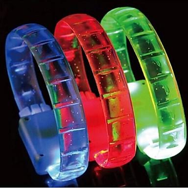festa de natal hallowmas Flash LED pulseira brinquedos (cor aleatória)