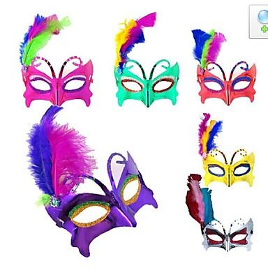 flash kunststof themafeest halloween masker (willekeurige kleur)