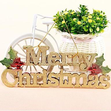 inglese lettere Merry Christmas card con albero di appendere la corda appesa negozio porta decorazione appesa