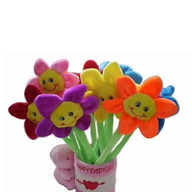 Rose Fantoches Fofinho Pen Container Adorável Adorável Têxtil Plástico Felpudo Dom 6pcs