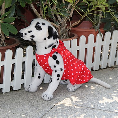 Dog Dress Red Dog Clothes Summer Polka Dots