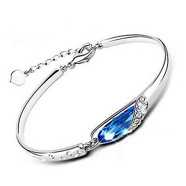 Pulseiras em Correntes e Ligações Cristal imitação de diamante Original Moda Jóias Prata Cor Ecrã Jóias 1peça