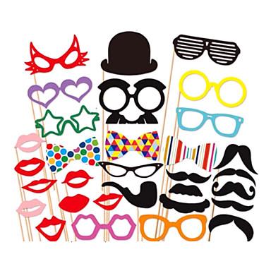 31 buc hârtie foto carte de cabina de recuzită partid distractiv favoare (ochelari& pălărie& mustață& pălărie)