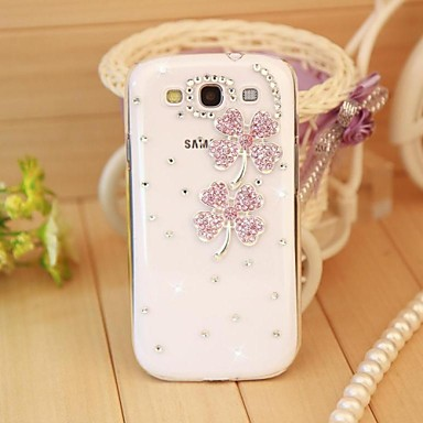 cheap Galaxy S3 Cases / Covers-Case For Samsung Galaxy S7 edge / S7 / S6 edge plus Rhinestone / Transparent / Pattern Back Cover 3D Cartoon PC