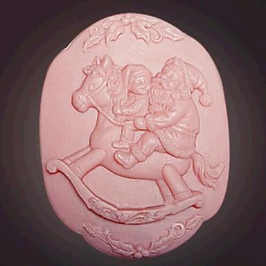Christmas Santa Claus fondant cake chocolade siliconen mal taart decoratie gereedschappen, l8.2cm * w8.2cm * H4cm