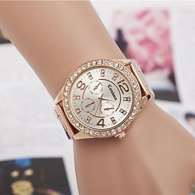 Kadın's Quartz Bilek Saati Alaşım Bant Işıltılı / Moda Gümüş / Altın Rengi / Gül Altın